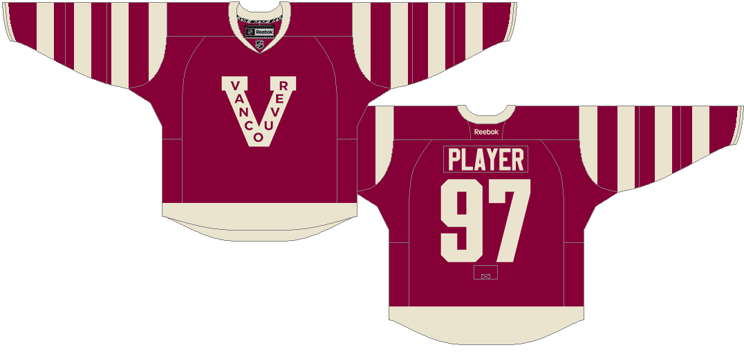 e82f50feb The Canucks celebrated the Cup-winning Vancouver Millionaires by sporting a  near-identical replica of their sweater on three occasions. The burgundy  jersey ...